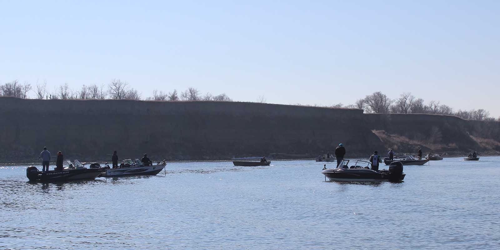 Boats in front of Hazleton Ramp