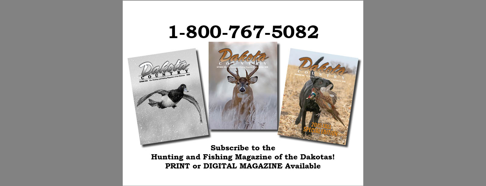 A... Dakota Country Magazine Subscription banner