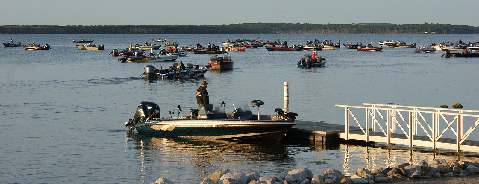 Tournament Boats on Devils Lake