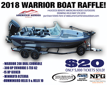 2017 Warrior Boat Raffle Square Banner